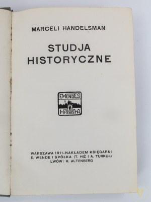 [Księstwo Warszawskie] Handelsman Marceli, Studia historyczne