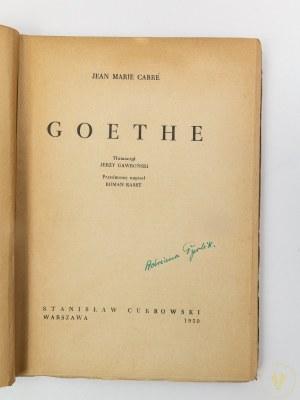 Carre Jean Marie, Goethe