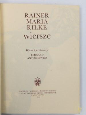 Rilke Rainer Maria, Wiersze