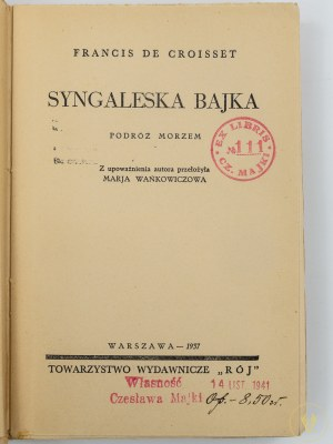de Croisset Francis, Syngaleska bajka