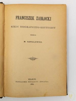 Gawalewicz Marian, Franciszek Zabłocki: szkic biograficzno-krytyczny