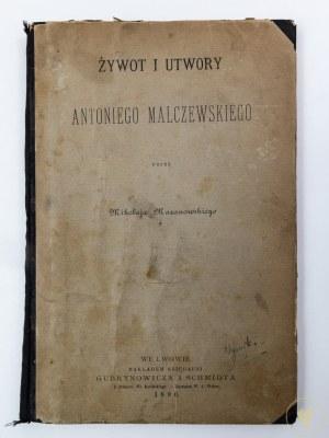 Mazanowski Mikołaj, Żywot i utwory Antoniego Malczewskiego