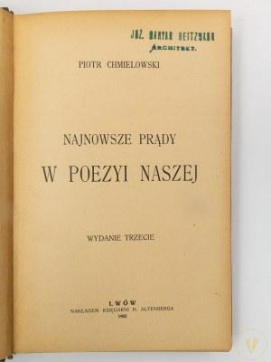 Chmielowski Piotr, Najnowsze prądy w poezyi naszej [Zakopane]