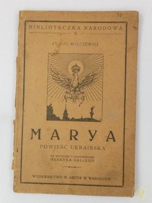 Malczewski Antoni, Marya. Powieść ukraińska