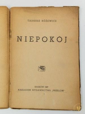 Różewicz Tadeusz, Niepokój [Przełom Kraków 1947]