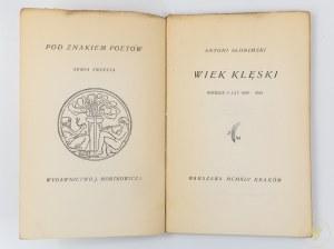 Słonimski Antoni, Wiek klęski. Wiersze z lat 1939-1945 [seria Pod Znakiem Poetów]