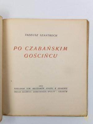 [ex libris H. Bombrycha] Szantroch Tadeusz, Po czabańskim gościńcu [okładkę projektował J. Książek]