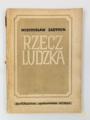 Jastrun Mieczysław, Rzecz ludzka [wydanie I][okładka Olga Siemaszko]