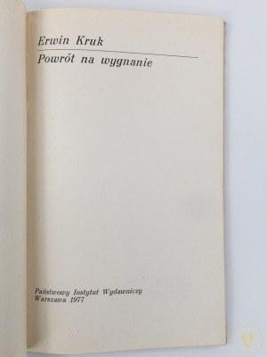 [Henryk Tomaszewski] Kruk Erwin, Powrót na wygnanie [wydanie I]
