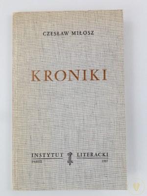 Miłosz Czesław, Kroniki [wydanie I]