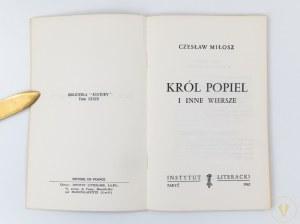 Miłosz Czesław, Król Popiel i inne wiersze [wydanie I]