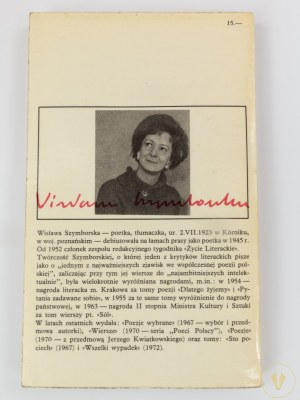 Szymborska Wisława, Wybór wierszy [wydanie I]