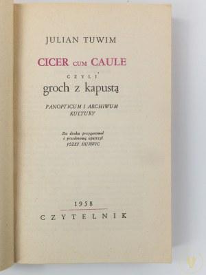Tuwim Julian, Cicer cum Caule czyli Groch z Kapustą [Wydanie pierwsze]