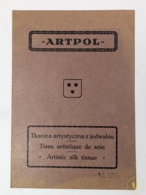 Tkanina artystyczna z jedwabiu Chopin [ok. 1930]