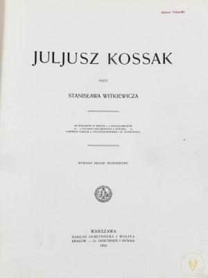 Witkiewicz Stanisław, Juljusz Kossak; 260 rysunków w tekście, 8 intagliodruków, 6 facsimili kolorowych akwarel...