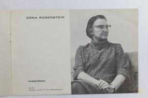 [Katalog wystawy] Erna Rosenstein. Malarstwo