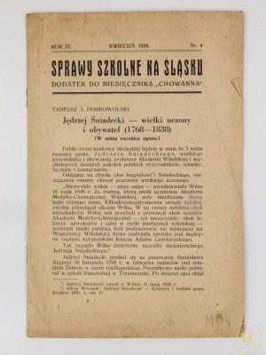 Sprawy szkolne na Śląsku. Dodatek do miesięcznika