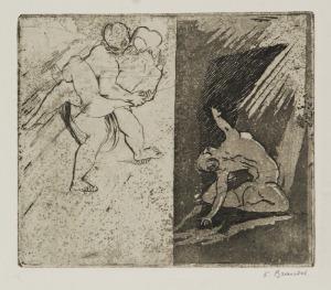 Konstanty BRANDEL (1880-1970), Kompozycja figuralna