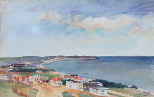 Teodor GROTT (1884-1972), Gdynia - Widok z Kamiennej Góry, 1913