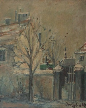 Jan CYBIS (1897-1972), Ulica w Krzemieńcu, 1940