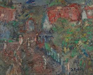 Jan CYBIS (1897-1972), Wieś, 1959
