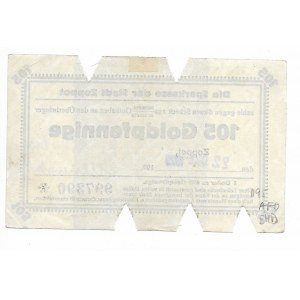 Zoppot (Sopot), Sparkasse der Stadt, 105 Goldpfennige 1923 - prawidłowa klauzula