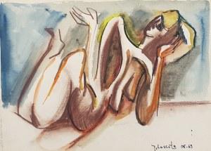 Jerzy Lassota, Akt na plaży, 1969 r.