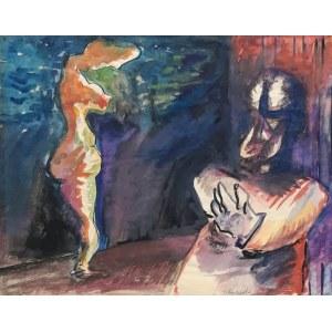 Jerzy Lassota, Świnoujścia nocą, 1969 r.