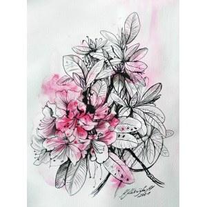 Katarzyna Kabzińska-Masionek (ur. 1993), Rododendrony, z serii: Kwiaty, 2021