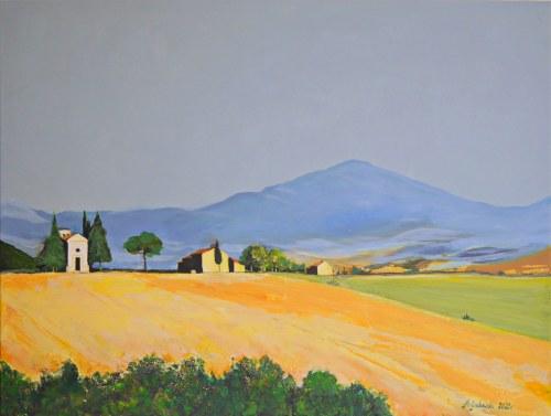Andrzej Grabowski (ur. 1962), Wzgórza Toskanii, 2021