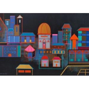 Grażyna Kilanowicz- Barecka (ur. 1955), Kompozycja Miejska 04–2021, 2021