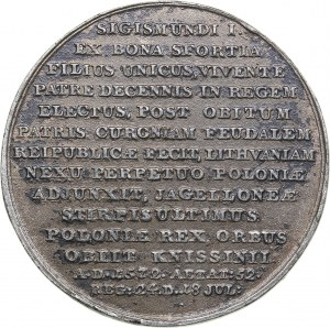 Poland medal Royal Suite Medal by J.J. Reichel - Sigismund II Augustus (1545-1572)
