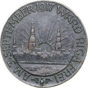 Latvia medal The capture of the Riga city by German troops. 1917