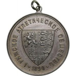 Latvia medal Riga Athletic Society. 1890