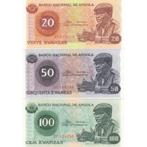 Angola 20,50,100 kwanzas 1976