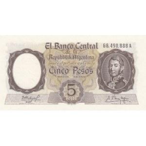 Argentina 5 pesos 1960-62