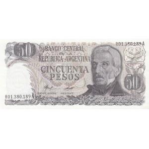 Argentina 50 pesos 1976 replacement note