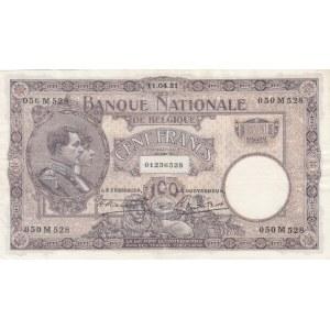 Belgium 100 francs 1921