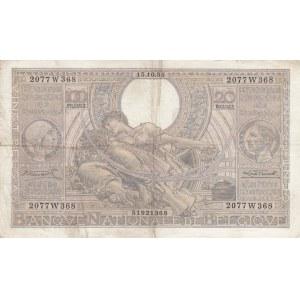 Belgium 100 francs=20 belgas 1935