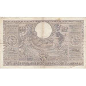 Belgium 100 francs=20 belgas 1936