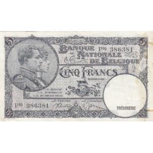 Belgium 5 francs 1938