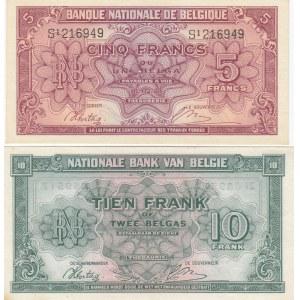 Belgium 5 & 10 francs 1943