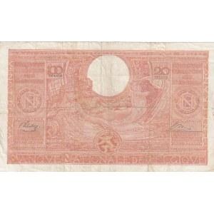 Belgium 100 francs= 20 belgas 1944
