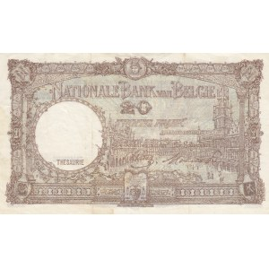 Belgium 20 francs 1944