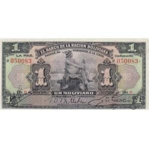 Bolivia 1 bolivano 1911