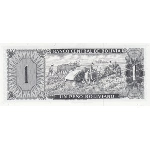 Bolivia 1 peso bolivano 1962