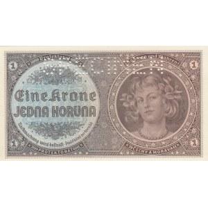 Bohemia & Moravia 1 krone 1940 - Specimen