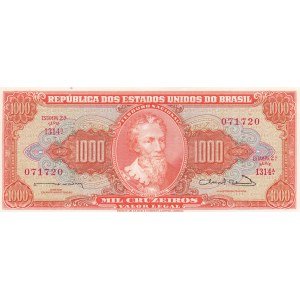 Brazil 1000 crizeiros 1963