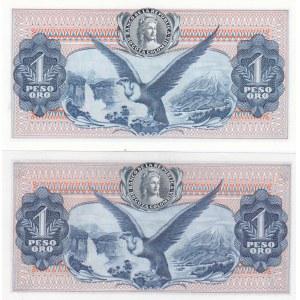 Colombia 1 peso 1966 & 1968