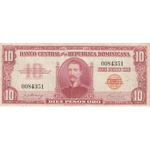 Dominican Republic 10 pesos 1962